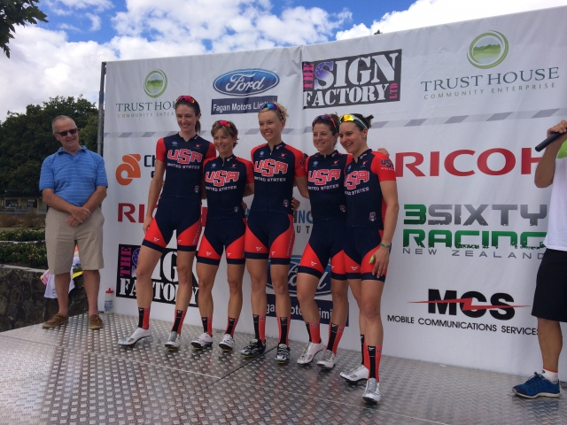 Team USA claimed the Team Classification at the Women's Tour of New Zealand.