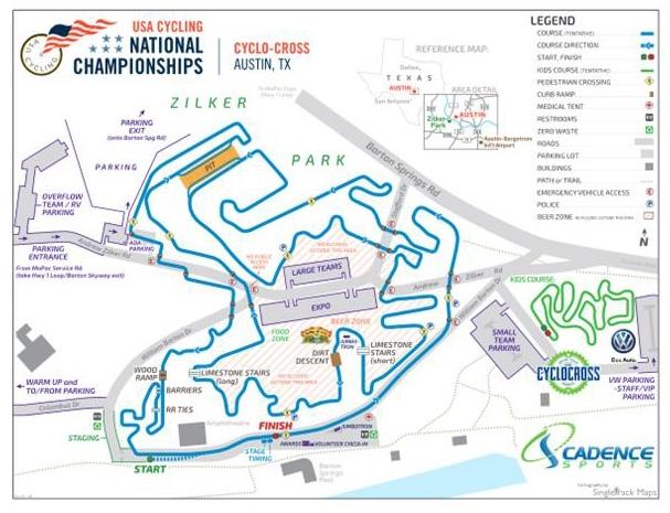 Austin cyclocross course