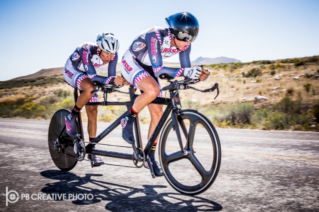 Benny and Todd Parks repeated as men's 90+ tandem time trial national champions.