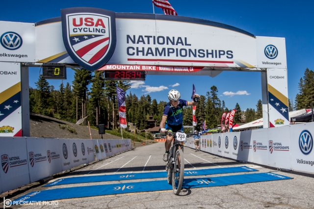 The ageless Fred Schmid (Bear Mountain Wolfpack), from Waco, Texas, captured yet another USA Cycling National Championship, today's being the 80-84 Master Men's class