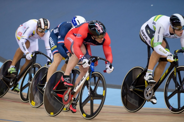 Baranoski in round one of the men's keirin