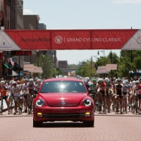 The Volkswagen lead car is ready to roll
