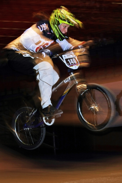 The time trial win was Stancil's 11th world title, but first in the championship, or elite, class. Photo: Jerry Landrum