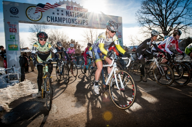 The start of the womens singlespeed national championship race