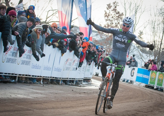 Jonathan Page rode to victory in the elite men's race