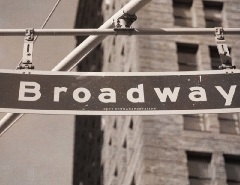 Broadway Street Sign Wall Decor New York Travel Photography