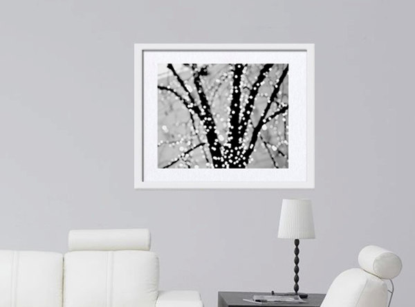 Black grey white sparkles modern wall decor abstract photography - Sparkle wall decor ...