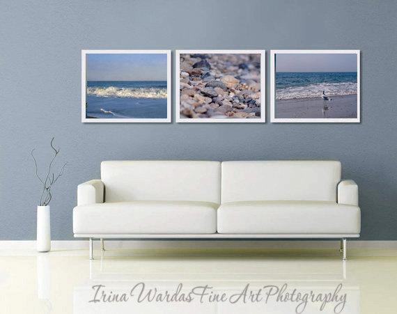 coastal photography beach print set 3 piece wall art 3 11x14 nautical prints