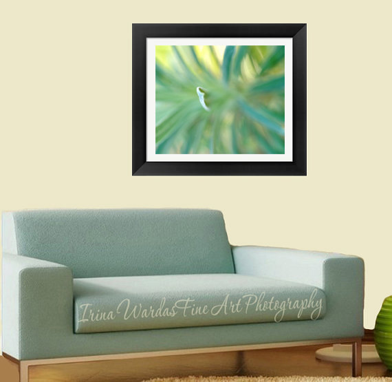 Framed fine art abstract nature photography turquoise for Living room 12x18