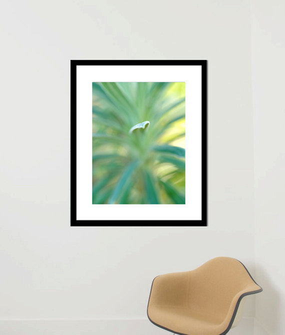 Framed Photo Print Abstract Nature Photography, Yellow Turquoise Wall Art,  Abstract Art, Framed Amazing Pictures