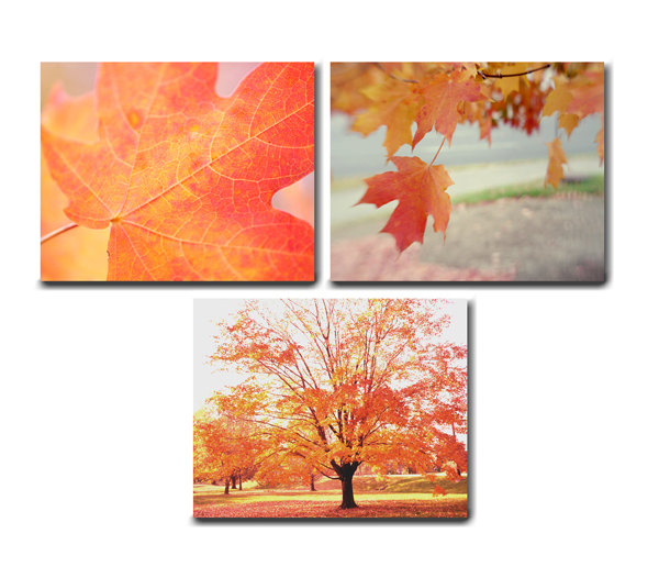 3 piece canvas wall art sets bueno abstract oversized set of 2 autumn tree prints floral