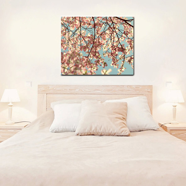 Large Botanical Wall Print | Oversized Canvas | Dogwood Tree Fine Art