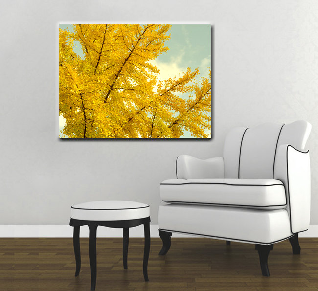 Yellow Tree Canvas Art Large Wall Oversized Print