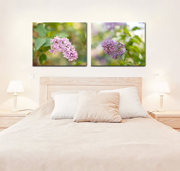 ... Lilac Canvas Set Of 2, Light Purple Room Decor Canvas Wall Art Two  Canvas Wrap ...