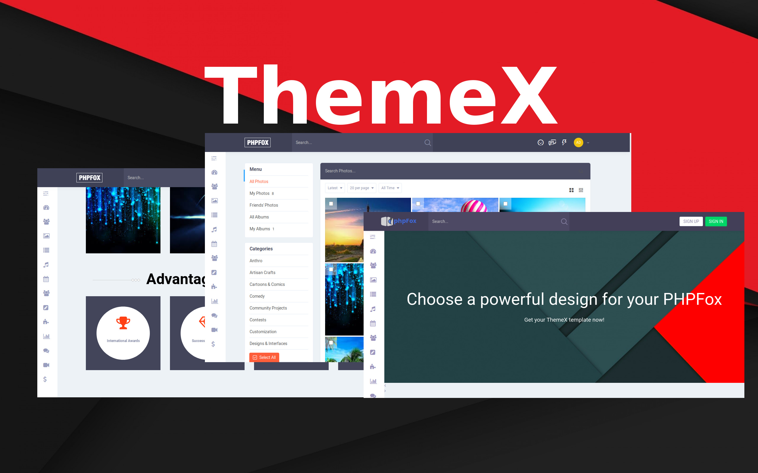 ThemeX Landing Page