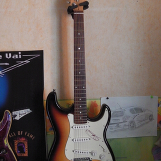 thomas wagner guitar santander straatocaster my first guitar with fender mex pickups in it. Black Bedroom Furniture Sets. Home Design Ideas