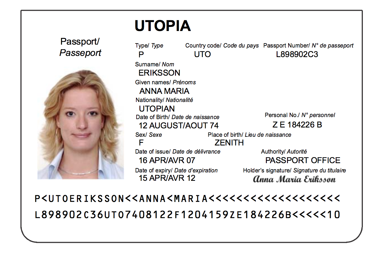 Passport Specimen