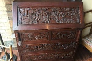 Carved Secretary Desk