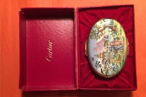 Cartier Enameled Box Oriental Motif