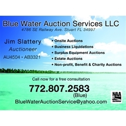 Blue Water Auction Services Logo