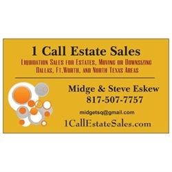 1 Call Estate Sales, LLC Logo