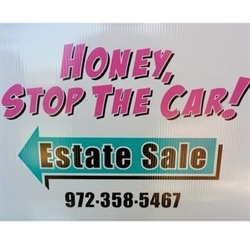 Honey Stop The Car Estate Sales Logo