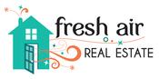 Fresh air logo house text