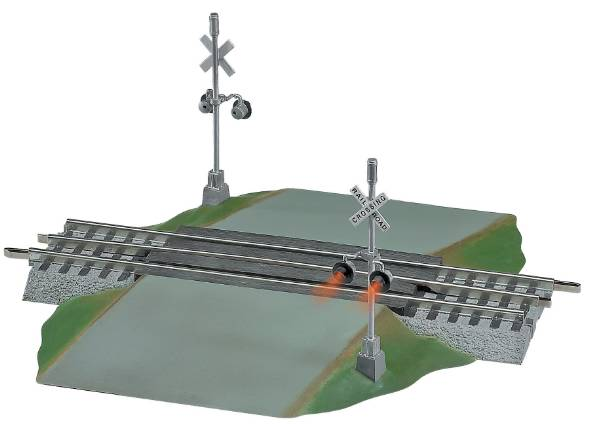 grade crossing section highway signal set crossing gate set