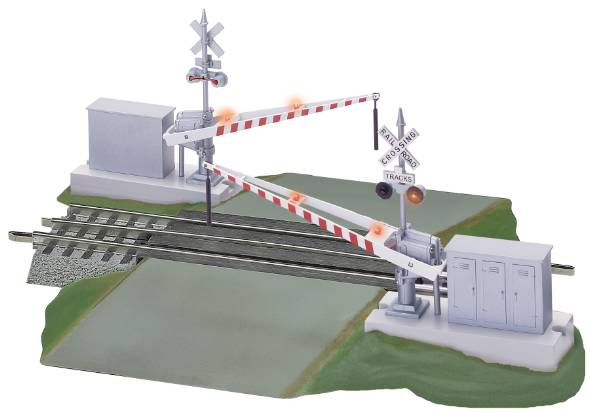 the guide to lionel fastrack \u2013 trainzgrade crossing section highway signal set crossing gate set