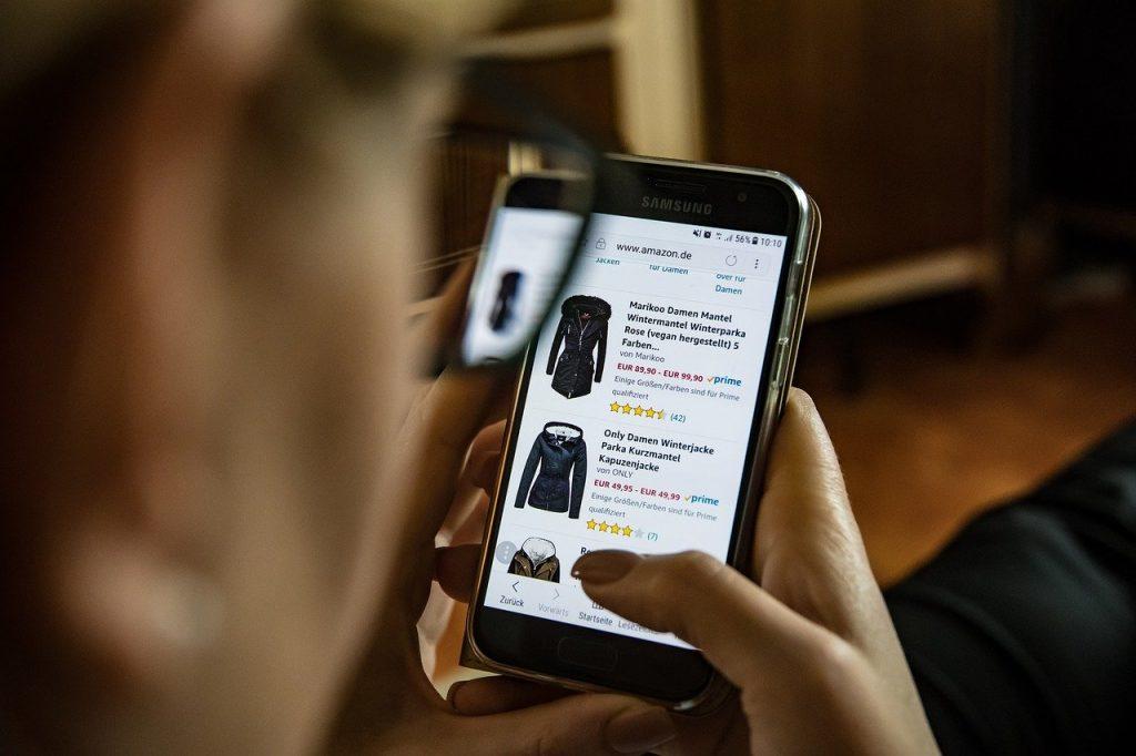 shopping on Amazon