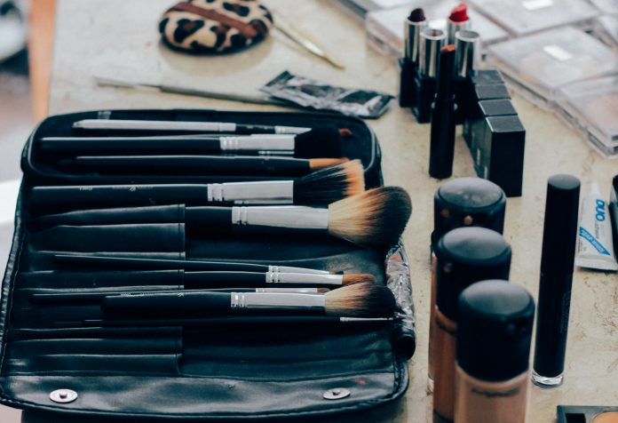 makeup laid out