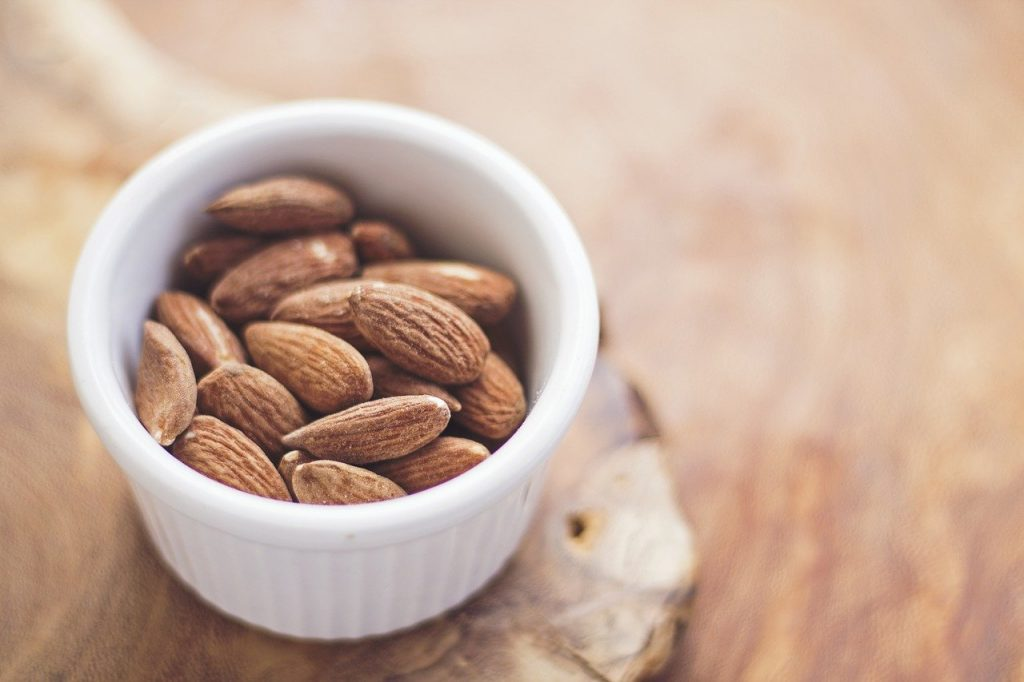 cup of almonds
