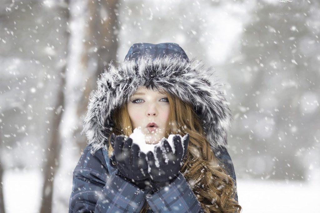 girl wearing a winter coat