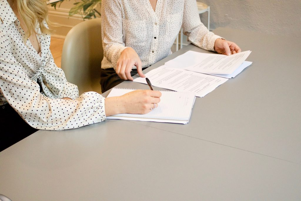 insurance agent with papers