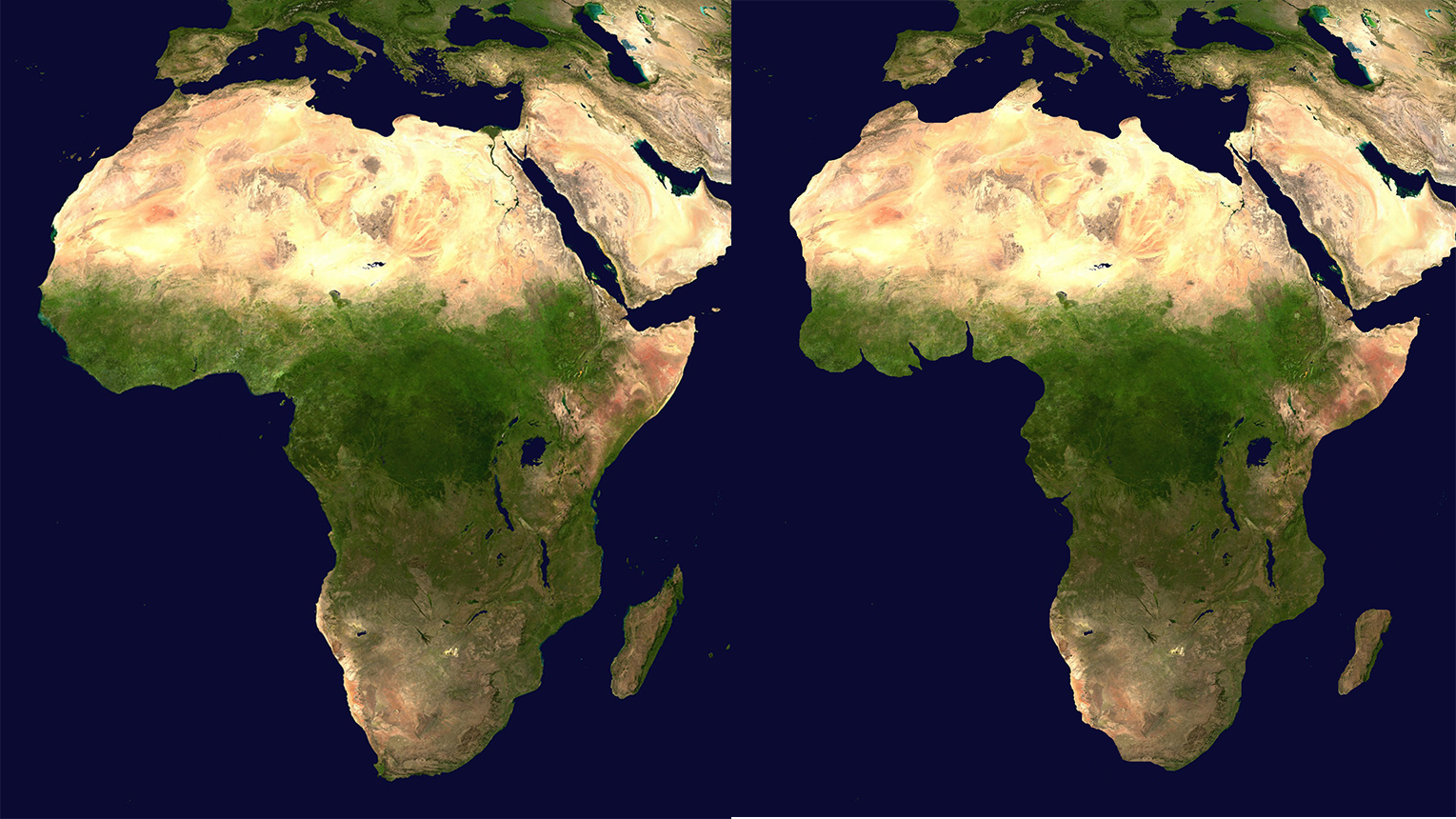 Very Terrifying Map Of Africa How Desert And Best Friend Water - Water rising map