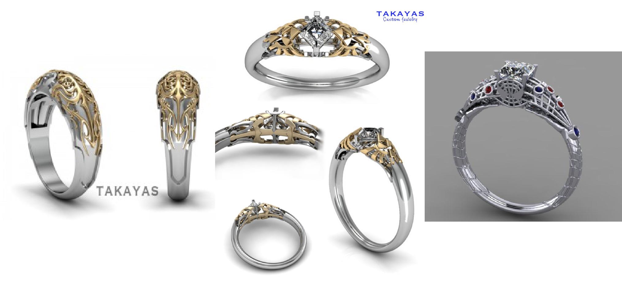 The most beautiful wedding rings Final fantasy wedding rings