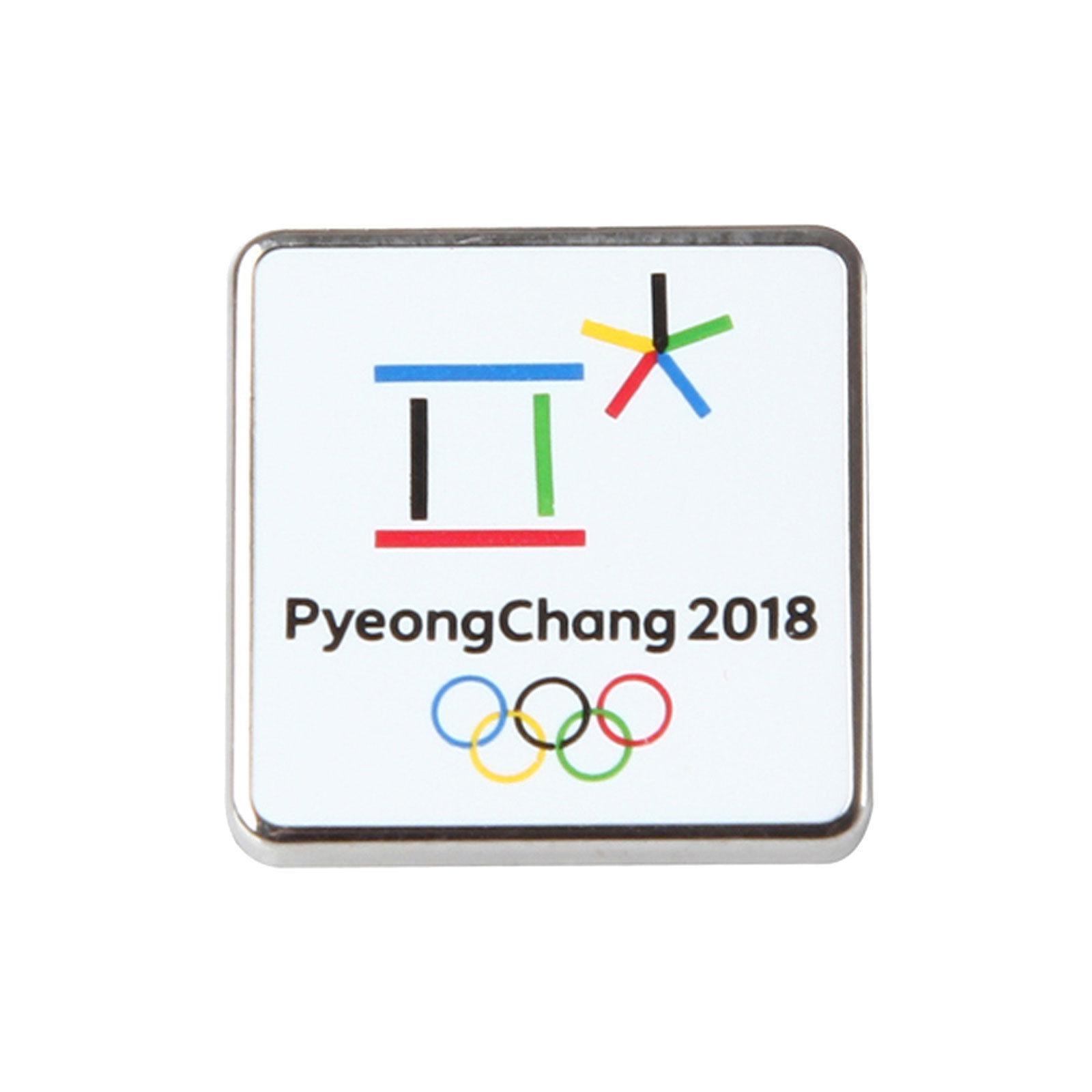 PyeongChang 2018 Korea Winter Olympic Square Badge Pin