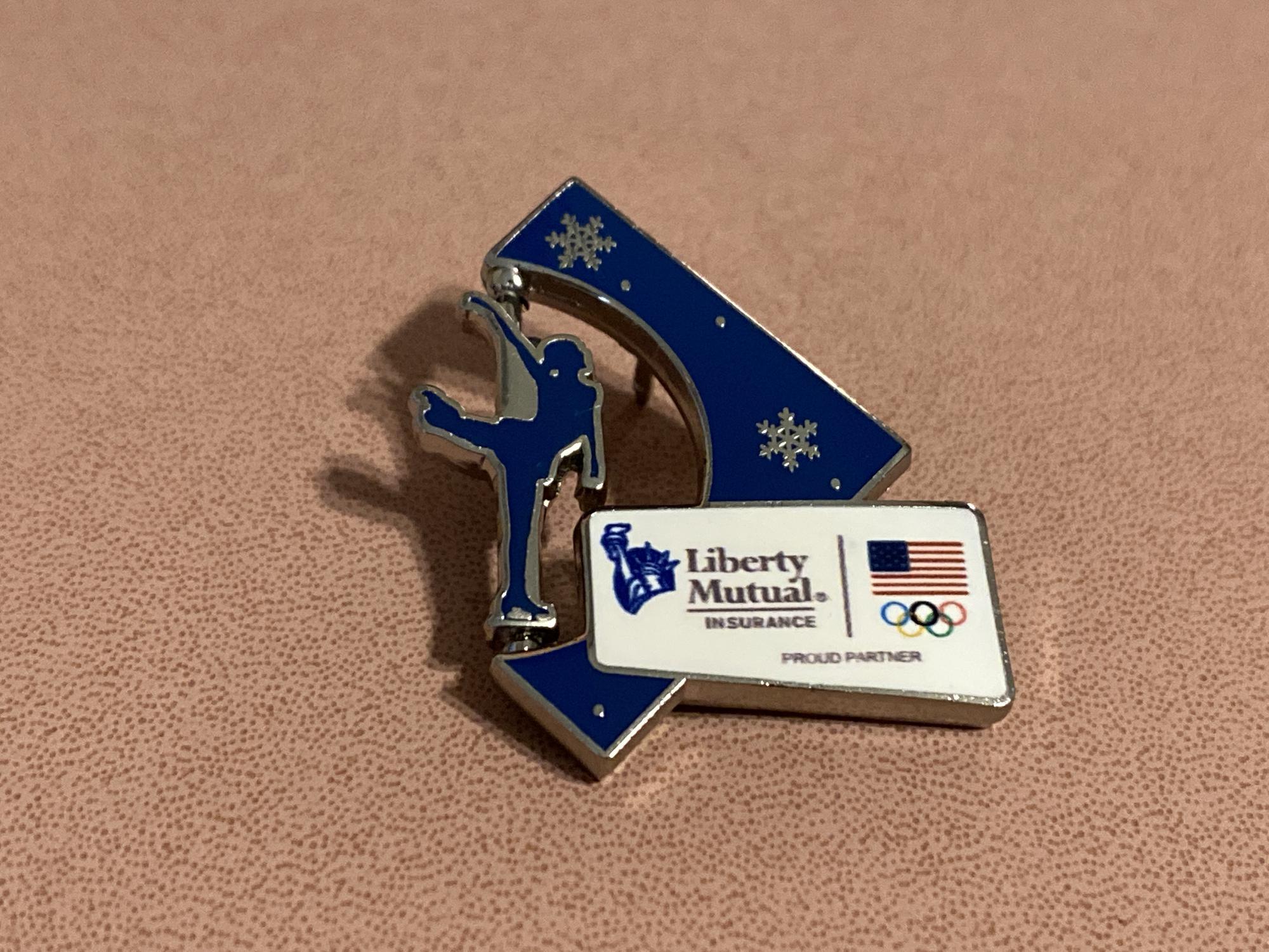Liberty Mutual Figure Skating Pin Sochi 2014