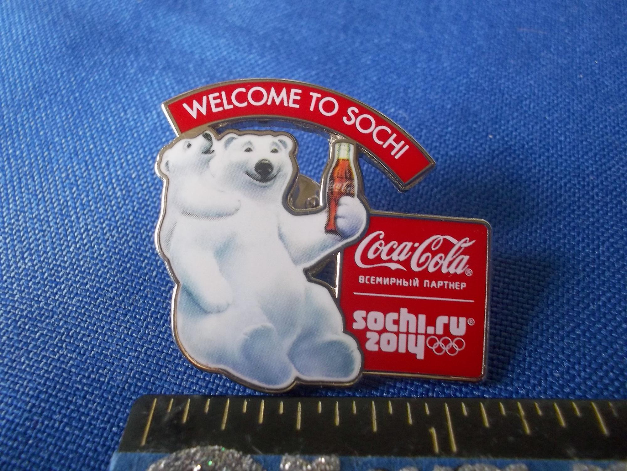 Sochi.ru 2014 Welcome To Sochi Coca-Cola Polar Bear Holding Coke