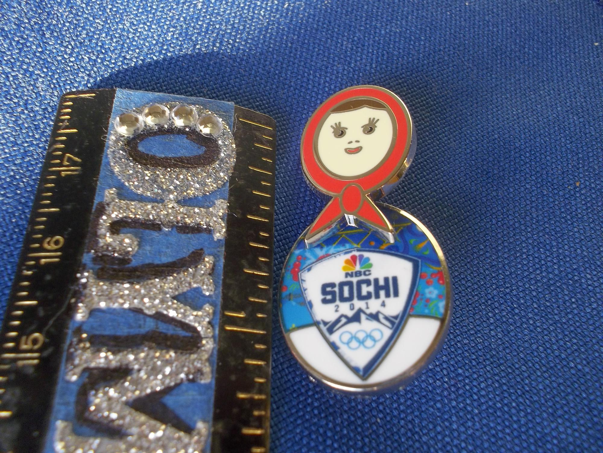 Sochi 2014 NBC Matryoshka Doll Pin