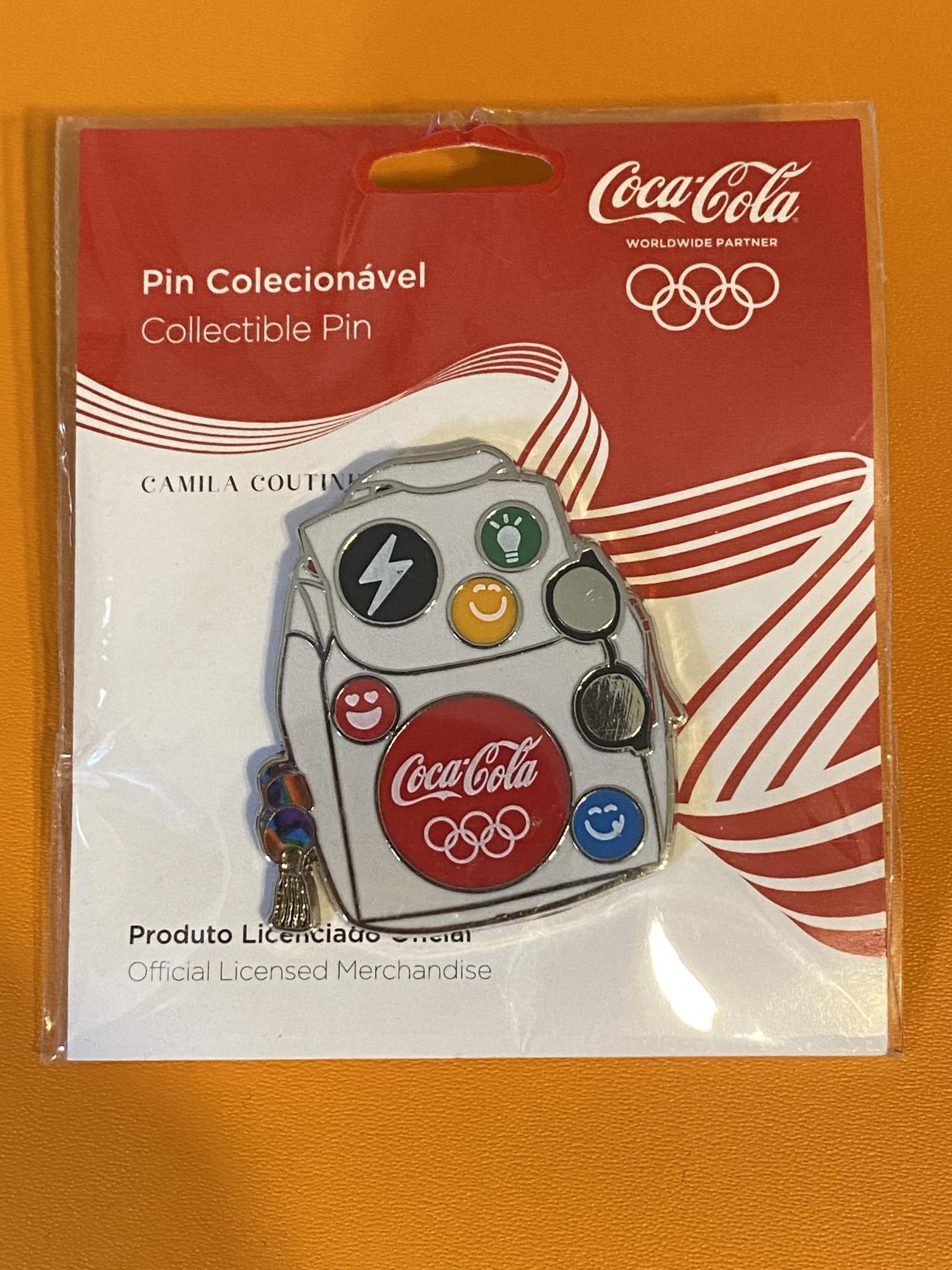 Coca-Cola  (Coke) Rio 2016 Backpack Pin