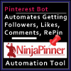 Web Banner Templates: Ninja Pinner Pinterest Automation Tool. Affiliate  Marketing Small Banner.  Web Banner size: 100x100px