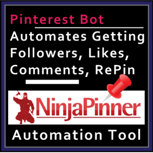 Web Banner Templates: Ninja Pinner Pinterest Automation Tool. Affiliate  Marketing Big Size Banner.  Web Banner size: 300x300px