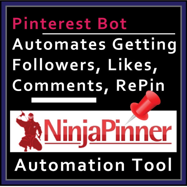 Web Banner Templates: Ninja Pinner Pinterest Automation Tool. Affiliate  Marketing Extra Big Size Banner.  Web Banner size: 600x600px
