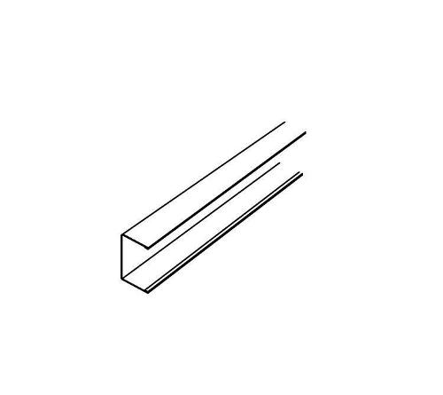 1 15/16 in x 15/16 in x 10 ft Armstrong Channel Molding / White - 7830