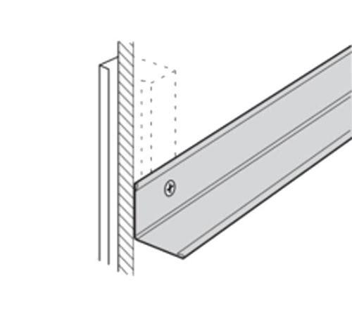 10 ft x 1 in x 1 1/2 in USG Donn Brand Suspension System Wall Angle Molding / Flat White - M12