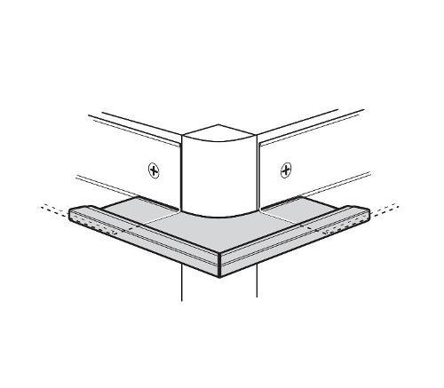 USG Donn Brand Suspension Systems 1 in Radius 90 Degree Outside Corner Cap for 7/8 in Molding / Flat White - JH14