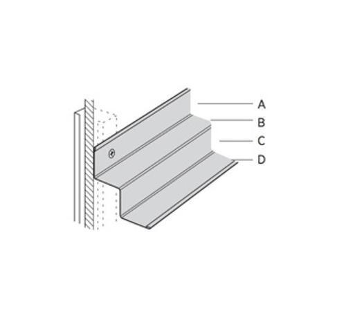 12 ft x 7/8 in x 3/8 in x 3/8 in x 9/16 in USG Donn Brand Suspension System Shadow Molding / White - MS174