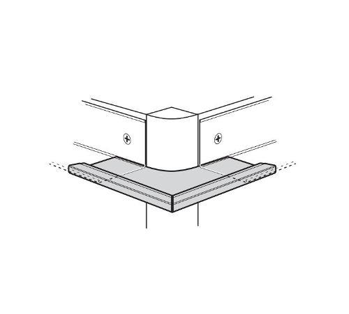 USG Donn Brand Suspension Systems Square 90 Degree Outside Corner Cap for 9/16 in Molding / White - JS9