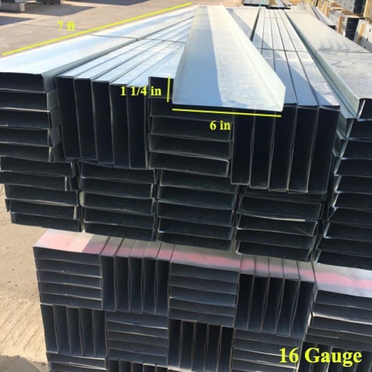 6 in x 7 ft x 16 Gauge Galvanized Steel Track at Pioneer Materials West